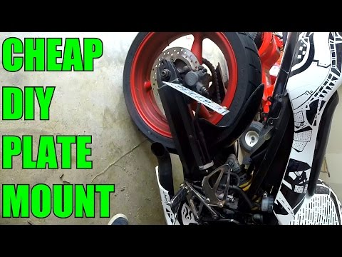 DIY Home Made Motorcycle Plate Mount - CBR 600