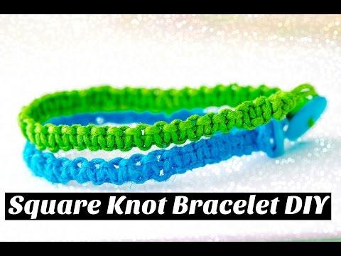 Square Knot Bracelet (Make it Monday) Making Square Knot Bracelet DIY (Bracelet DIY)