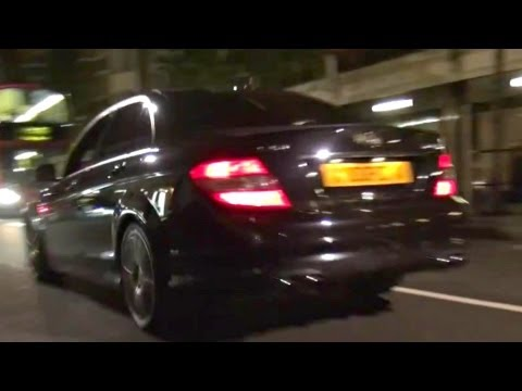 Decatted Mercedes C63 AMG BRUTAL SOUND!!