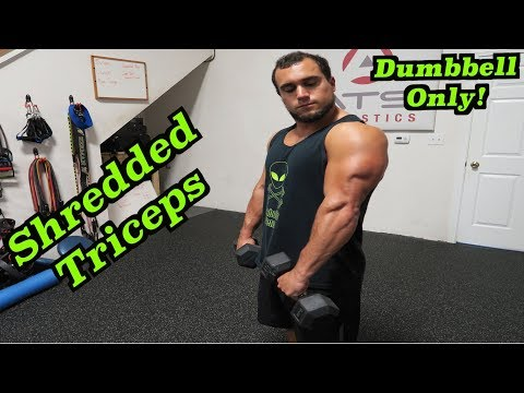 Intense Tabata Dumbbell Tricep Workout (HIIT)