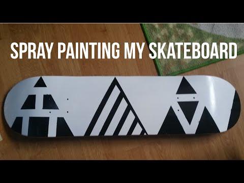 How To Spray Paint A Skateboard