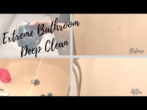 CLEAN WITH ME || How to deep clean a bathroom!