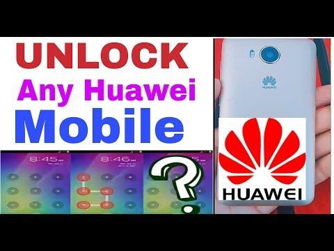 How To Unlock Huawei Pattern Lock Pin Or Password