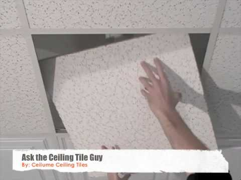 Ceiling Tiles - How to Replace