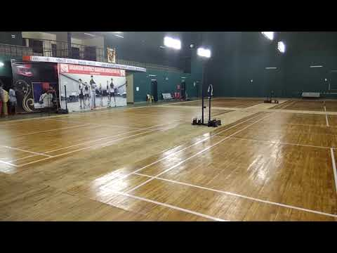 Badminton Court shuttle Court wooden flooring Polish varnish