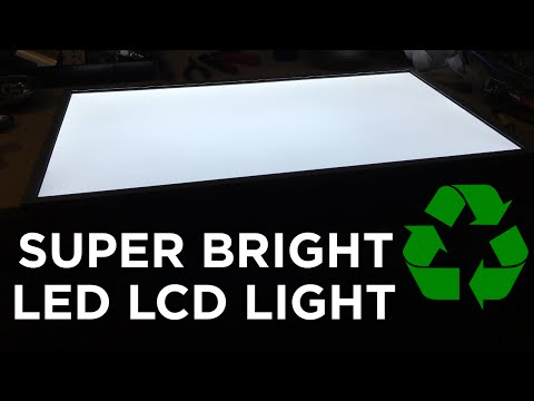 Ben Builds: DIY Recycled LED Panel Light