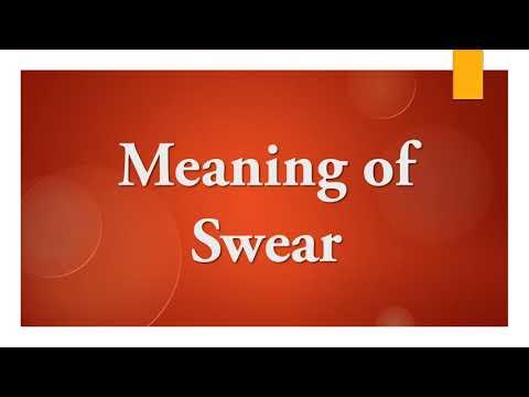 Meaning of Swear