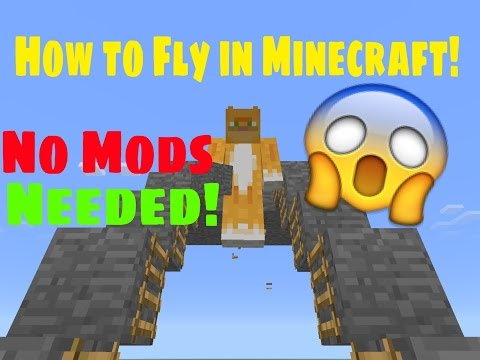 Minecraft P.E. - How to Fly in Survival! NO MODS (0.13.1)