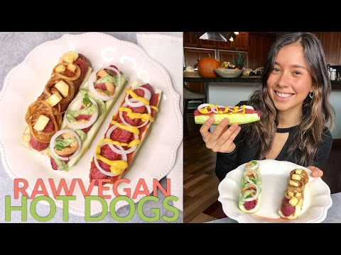 RAW VEGAN SAUSAGE FOR HOT DOGS
