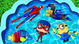 Learn Characters Paw Patrol, Disney Princess, Holly and Ben, Peppa Pig Toys in Pool For Kids