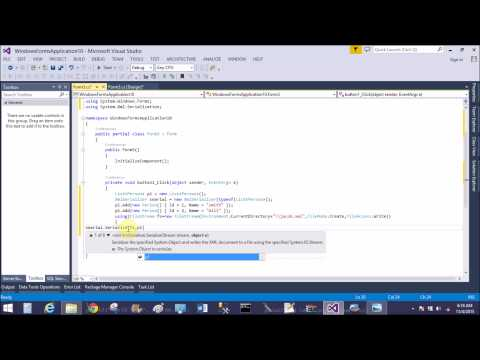 Create and read xml file as database in windows form c#