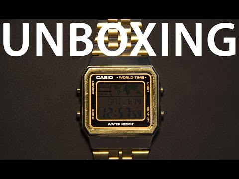 Retro Casio A500WEGA-1EF Gold World Time Watch Unboxig/Review