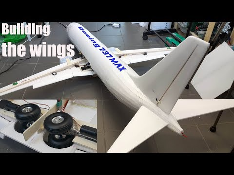 Boeing 737 MAX-8 RC airplane DIY project P-3/ building the wings