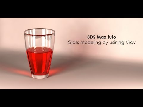 3DS Max Glass modeling & rendering by using Vray