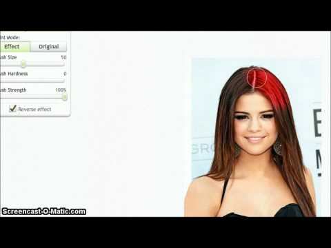 how to change hair color on picnik for free .
