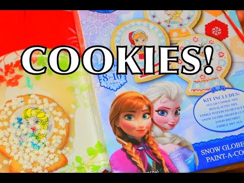 DIY Elsa Frozen Cookies How To Make Tutorial Elsa + Anna