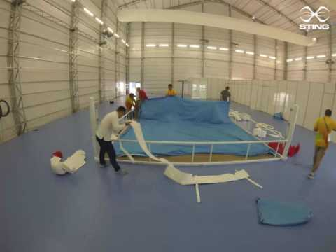 RIO 2016  Boxing Rings get built in 50 seconds