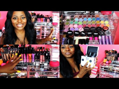 ♡ All About My Acrylic Makeup Storage  + Overview of Makeup Collection + All About My Hair ♡
