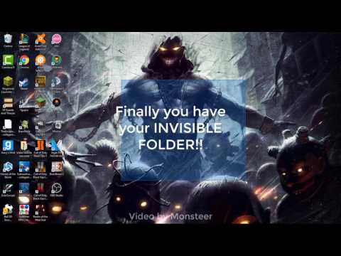 How to create a INVISIBLE folder!!  [Working 2017]