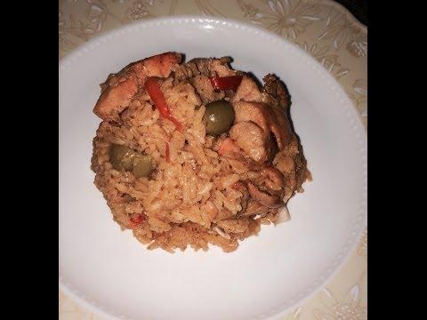 Puerto Rican Style Arroz con Pollo - chicken and rice