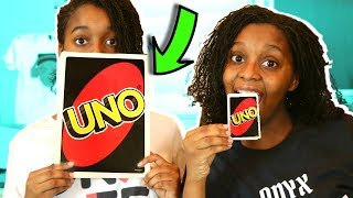 GIANT UNO TOY GAME CHALLENGE! - Onyx Family