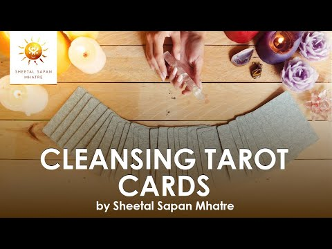 Cleansing tarot cards or tarot deck
