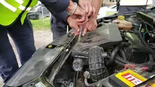 Perro policía halla droga en un auto durante controles en la ruta