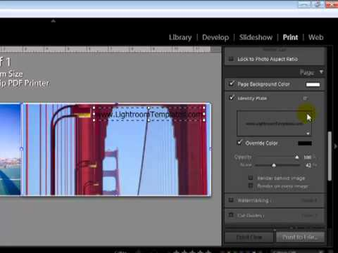 How to add watermark to Lightroom  templates