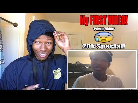 Reacting To My FIRST EVER VIDEO *Private Listed*! (Cringiest Video Ever)