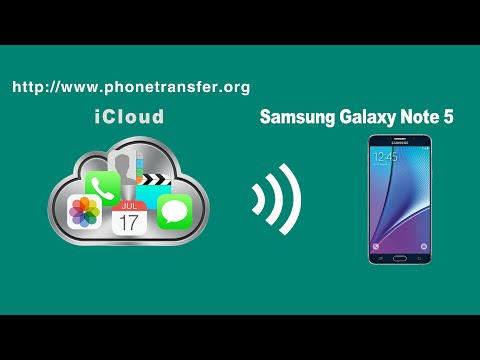 How to Restore Data, Contacts, SMS, Photos,Videos from iCloud Backup to Samsung Galaxy Note 5