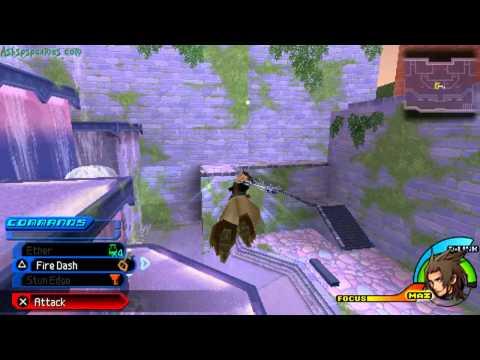 KHBBS - PSP - 01-17. Terra: Radiant Garden - Merlin's House, Fountain Court, Aqueduct