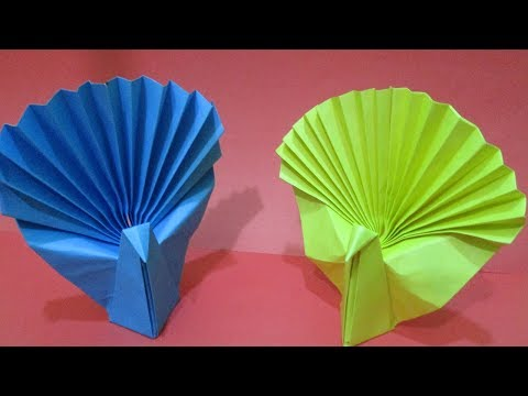 How to make an easy origami peacock | How to make paper peacock || Origami Peacock Easy Instructions