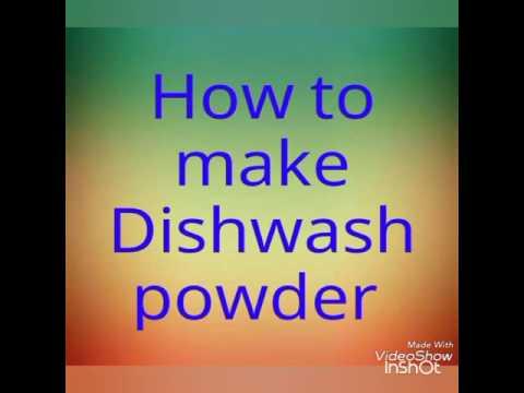 How to make dishwash powder tamil