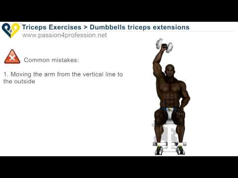 Dumbbells triceps extensions   Video Dailymotion