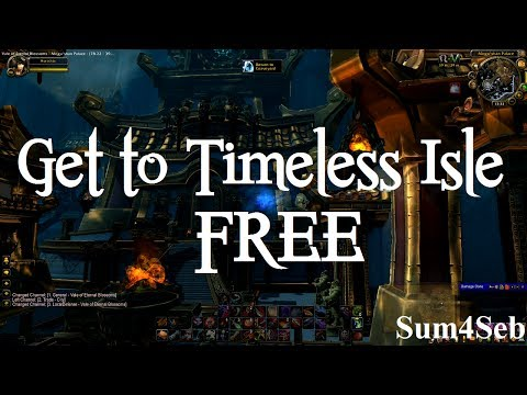 How to get to Timeless Isle for free / A Flash of Bronze quest without flying | Sum4Seb WoW Video HD