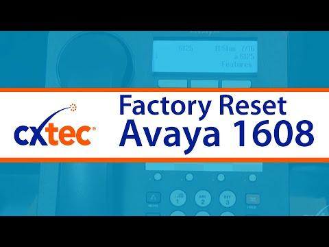 How to Factory Reset an Avaya 1608 IP Phone - CXtec tec Tips