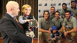 4 Year Old Boy Waiting For Heart Transplant Signs College Baseball Co