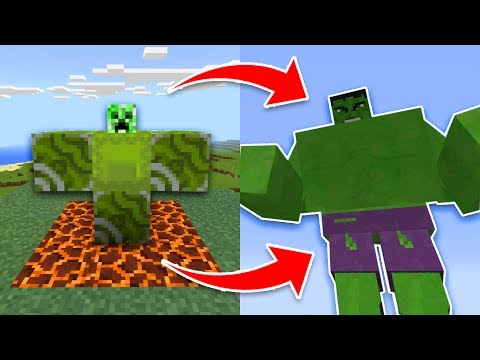 How to SPAWN the HULK in Minecraft Pocket Edition! (Incredible Hulk Avengers Addon)