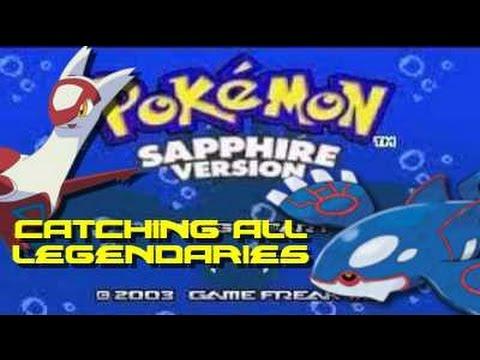 Pokemon Sapphire: ALL Legendary Pokemon Locations!!!