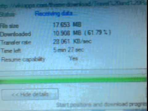 downloading speed in TATA DOCOMO 2g.3gp