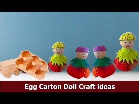 How to make doll with Egg carton