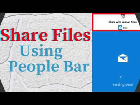 How To Share Files With Favorite People Using People Bar In Windows 10