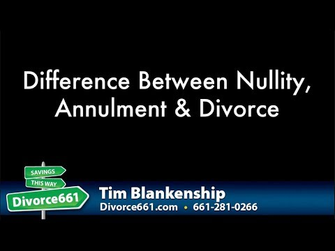 Nullity And Annulment Of Marriage Or Divorce