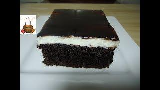 كيكة الشوكولاتة الاسفنجية رائعة بصلصة الشوكولاتة بطريقة سهلة وسريعة
