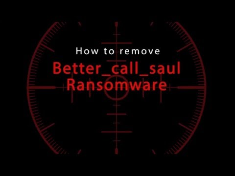 Better_call_saul Ransomware removal