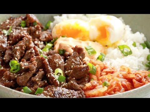 Korean BBQ Yum Yum Rice Bowls