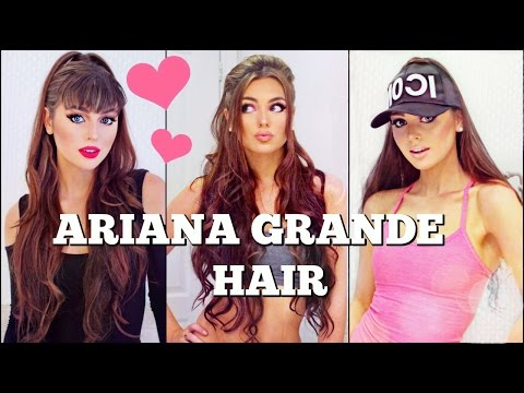 3 Ariana Grande Half-Up Hairstyles with Extensions Tutorial💖