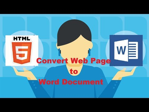 How to Convert a Web Page to a Word Document|No softwares requires