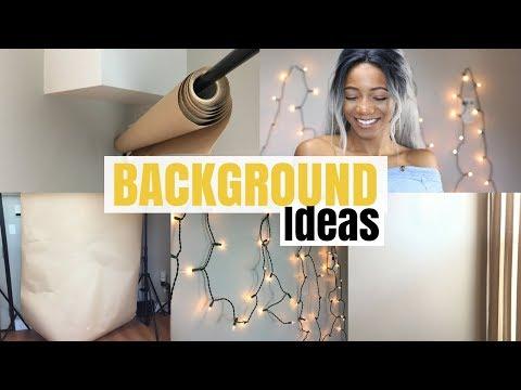 5 Backdrop/Background Ideas for Youtube Videos | Annesha Adams