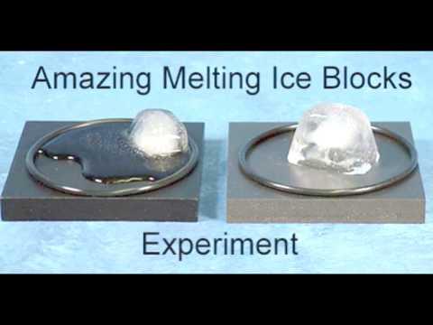 Amazing Melting Ice Blocks Experiment